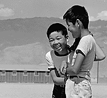 Young evacuees in Manzanar