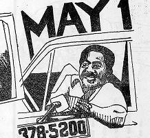 Taxi driver cartoon, 1980s